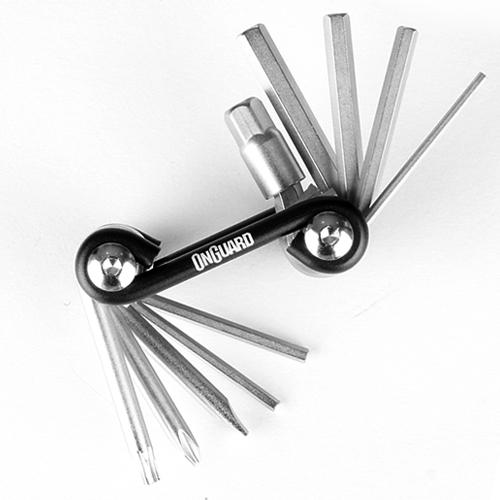 ONGUARD 온가드 10 in 1 폴딩 툴 휴대용 드라이버 렌치 세트 십자 일자 육각 T25